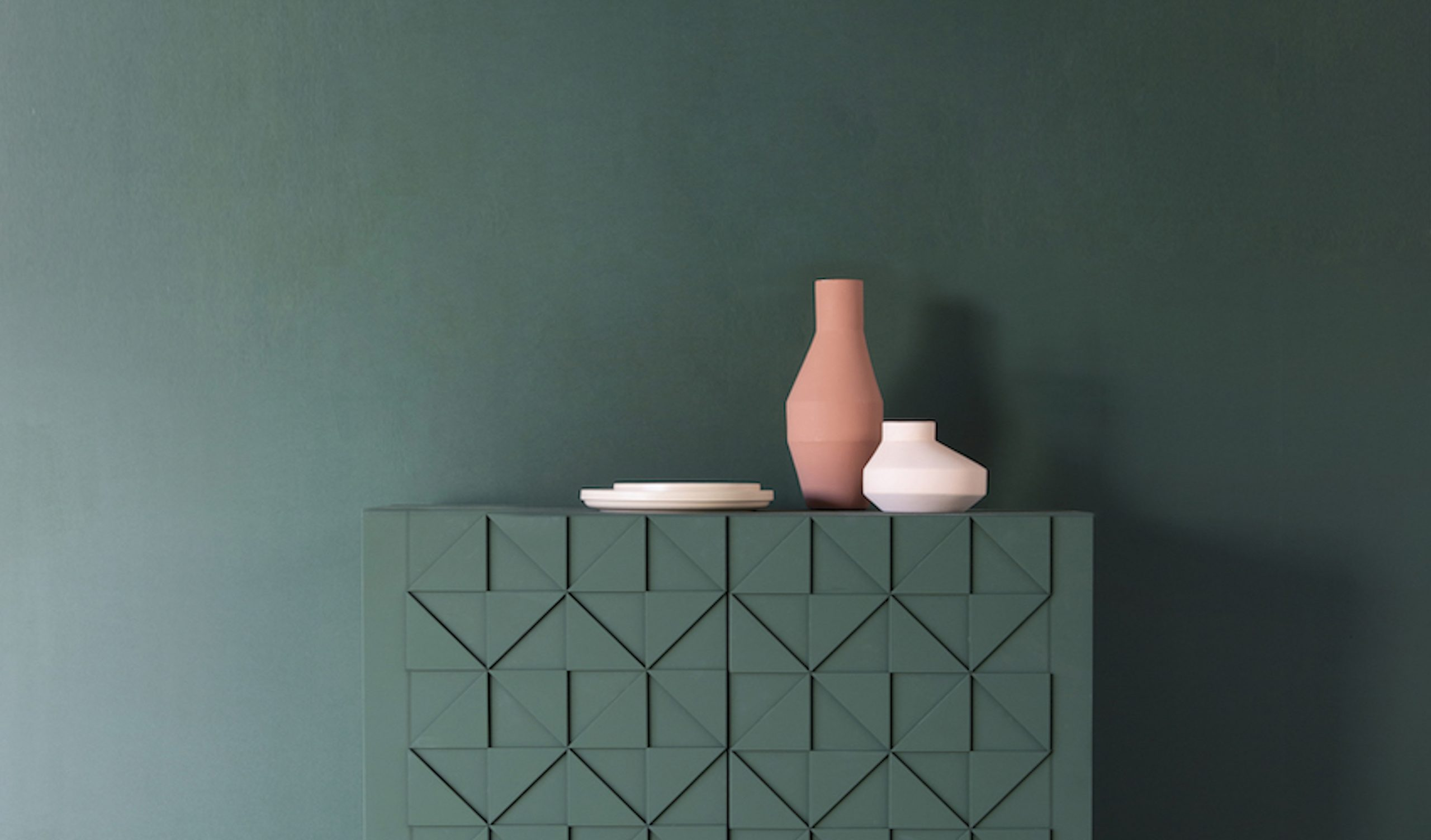 Senna cabinet original_forest green